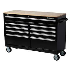 home depot black friday 2016 tools sale husky 52 in w 9 drawer mobile work bench black 75809ahr the