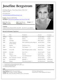 Job Resume Examples 2015 by Resume Examples For Actors 4 Acting Resume No Experience Template