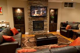 basement remodeling ideas for extra room traba homes contemporary family room designed using basement remodeling ideas and completed with modern fireplace