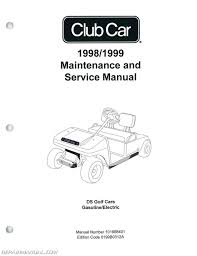 1999 club car ds golf car service manual