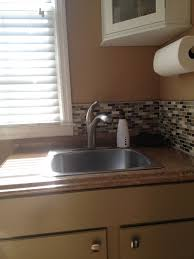 decor stainless steel sinks with graff faucets and peel and stick