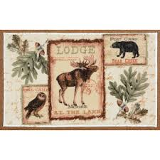 Moose Bathroom Accessories by Rustic Wildlife Rugs Including Moose And Bear Rugs Black Forest