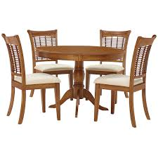 Dining Room Sets With Round Tables Mid Tone Round Table U0026 4 Chairs