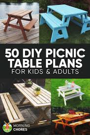 Free Wooden Picnic Table Plans by Best 25 Picnic Tables Ideas On Pinterest Diy Picnic Table