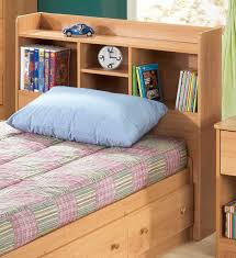 delightful twin bed with storage and bookcase headboard native