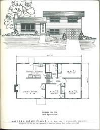 Split Level Home Designs Modern Home Plans 1955 Vintage House Plans 1950s Pinterest
