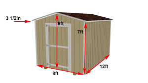 free building plans for 8x12 storage shed home design and