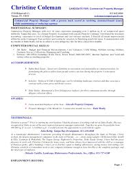 Sample Test Manager Resume by 14 Commercial Property Manager Resume Riez Sample Resumes Riez