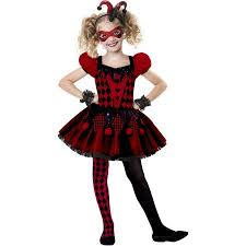 Walmart Halloween Costumes Girls Harlequin Cutie Child Halloween Costume Walmart