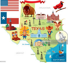 Texas Map Austin by Cartoon Map Of Texas Vector Art Getty Images