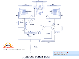 bedroom home plan elevation kerala design floor plans home plans