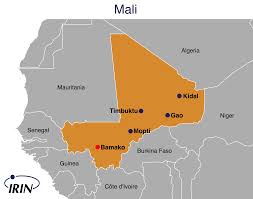 Map Of Mali Africa by Irin Trouble In The Heart Of Mali