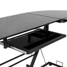 Computer Desks Black by L Shape Computer Desk Pc Glass Laptop Table Workstation Corner