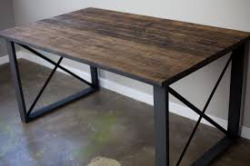 Concrete Dining Room Table Dining Room Dark Wood Countertop Industrial Dining Table With