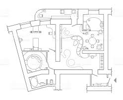 floor plan top view plans standard home furniture symbols set used