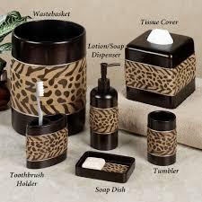 animal print bathroom set bathroom decor cheshire animal print bath accessories cheshire animal print bath accessories cheshire lotion soap dispenser brown click to expand