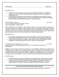 Qualifications Summary Resume Example by Construction Management Resume Examples Assistant Project Manager