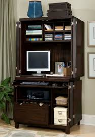 Desk Armoire Furniture Office Chairs Wooden Storage Computer Armoire Open