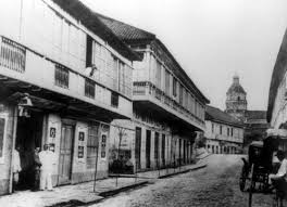 Image of the old Arroceros street in Manila during the Spanish period