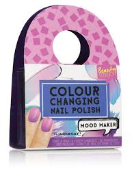 mood maker purple colour changing polish