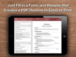 Resume Star  Top Rated Resume Designer for the iPhone  iPad  and iPod Touch Qrayon