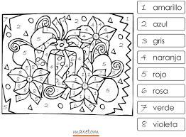 coloriage codé à imprimer 8 espagnol maxetom