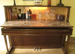 Wetbar Repurposed Piano Wet Bar The Piano Wet Bar Is Made From A Vintage