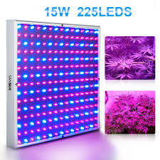 sansun 225 led blue red led indoor garden plant grow light 15w