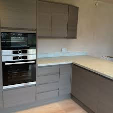 Handleless Kitchen Cabinets Grey Handleless Kitchen Billingham Kitchens