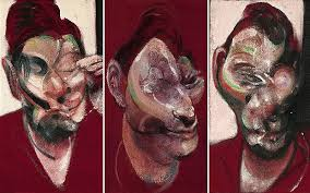 Three Studies For A Portrait Of Lucien Freud, 1965 by Francis Bacon.