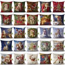 christmas xmas santa sofa car throw cushion pillow cover case home
