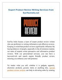 Product review writing service   report    web fc  com FC