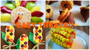 easy diy no bake thanksgiving treat ideas great for kids youtube