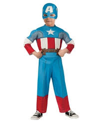 Patriotic Halloween Costumes Captain America Boys Costume Patriotic Superhero Large Medium