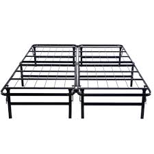 bed frames white metal bed frame queen king metal platform bed