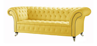 Chesterfield Sofa Leather by Yellow Leather Chesterfield Sofa Handcrafted In The Uk