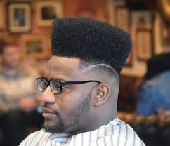 black men haircuts with parts on the side flat top side part