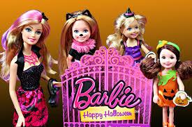 barbie halloween fall season dolls chelsea and kelly in halloween