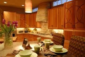 adorable interior kitchen design with wooden furniture inside and
