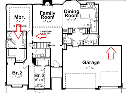 4 Bedroom Cabin Floor Plans Two Story House Plans Three Car Garage