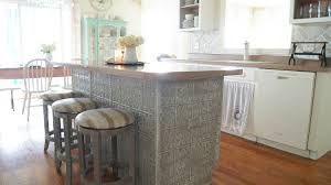 Tiled Kitchen Table by Faux Tin Ceiling Tiles Kitchen Island White Lace Cottage