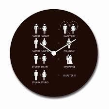 wicked wedding mantra canvas wall clock