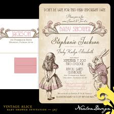 baby shower vintage invitations vintage alice baby shower baby