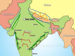 Ancient India Map by Ancient India Geography History Showme