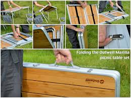 Wooden Folding Picnic Table Plans by Wooden Folding Picnic Table And Chairs With Design Ideas 1245 Zenboa