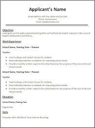 Good Resume Template  resume good objective resume template good     longbeachnursingschool