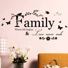 aliexpress com buy family love never ends quote vinyl wall decal