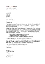 Writing Application Letter For Nursing Job sports cover letters   Template   cover letters resume
