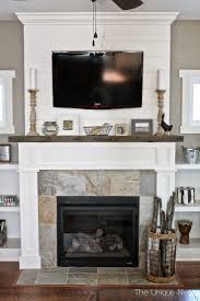 shiplap fireplace with reclaimed wood mantle and built ins www