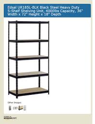 Garage Depth Furniture Simple Gray Edsal Shelving For Garage Storage Design
